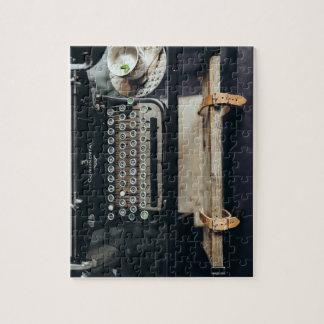 Rompecabezas de la máquina de escribir del vintage