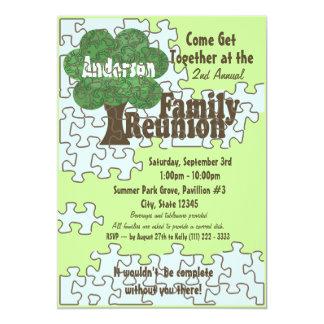 Rompecabezas de la reunión de familia invitación 12,7 x 17,8 cm