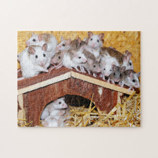 Rompecabezas de los ratones del tejado