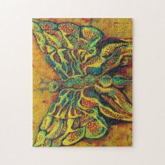 Rompecabezas de oro del diseñador de la mariposa