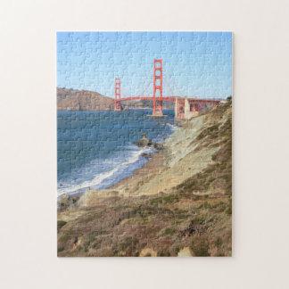 Rompecabezas de puente Golden Gate y de la playa