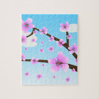 Rompecabezas de Sakura de las flores de cerezo