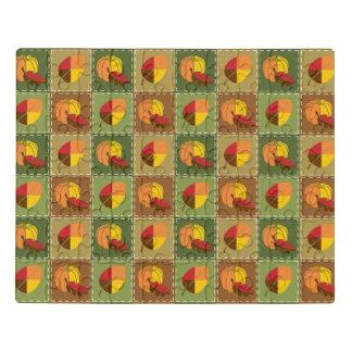 Rompecabezas del acrílico del edredón del otoño