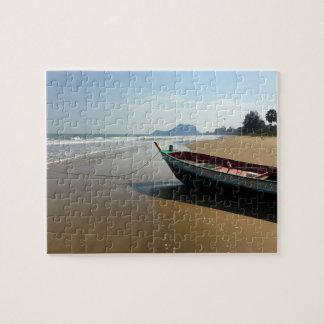 Rompecabezas del barco de la playa