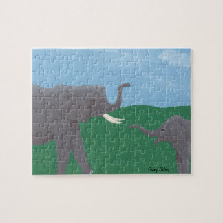 Rompecabezas del campo de los elefantes del bebé