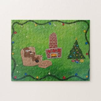 Rompecabezas del castor del navidad