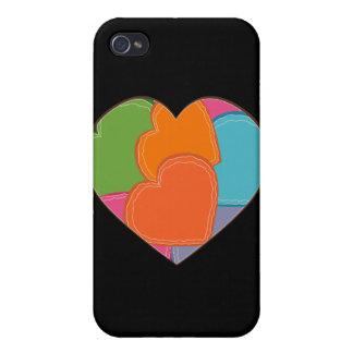 Rompecabezas del corazón iPhone 4 carcasas