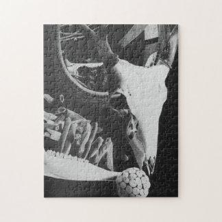 rompecabezas del cráneo de los ciervos 11x14