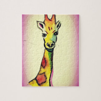 Rompecabezas del dibujo animado de la jirafa