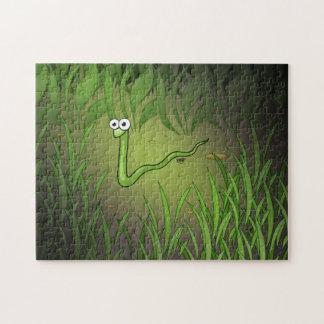 Rompecabezas del dibujo animado de la serpiente