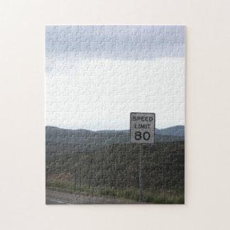 Rompecabezas del límite de velocidad 80
