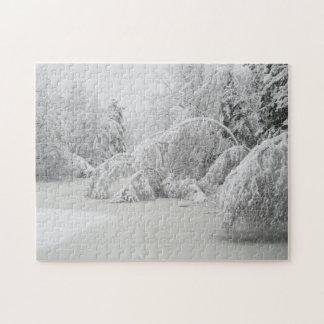 Rompecabezas del paisaje del invierno