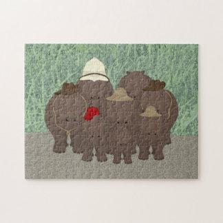 Rompecabezas del safari del hipopótamo