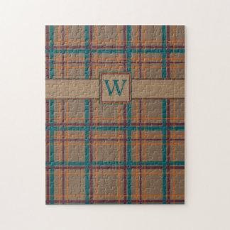 Rompecabezas elegante de la tela escocesa del