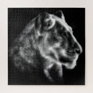 Rompecabezas feroz de la leona