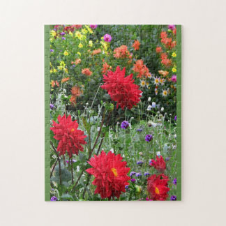 Rompecabezas floral del jardín de flores colorido