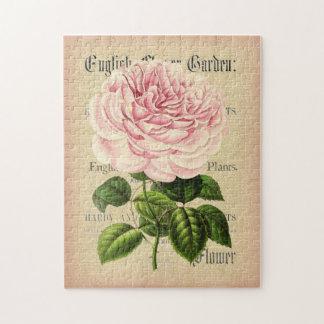 Rompecabezas floral femenino del vintage color de