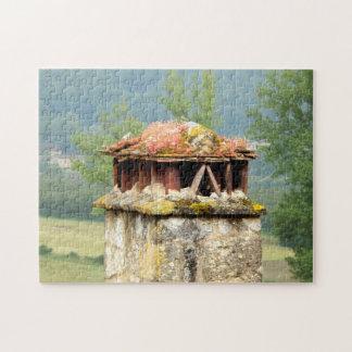 Rompecabezas francés antiguo de la chimenea