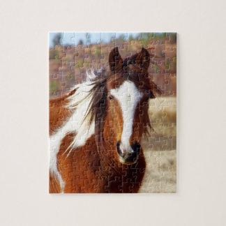 Rompecabezas hermoso del caballo de la pintura