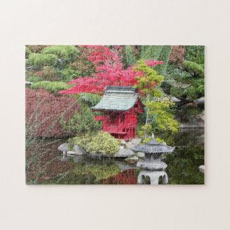 Rompecabezas japonés de la foto de la charca del