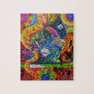 Rompecabezas liso del arte abstracto del jazz