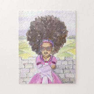 Rompecabezas negro de princesa Afro de Rapunzel