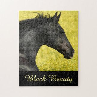 Rompecabezas negro del caballo