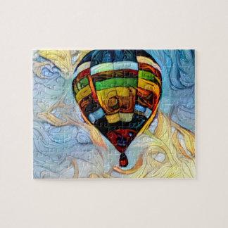 Rompecabezas pintado globo del aire caliente