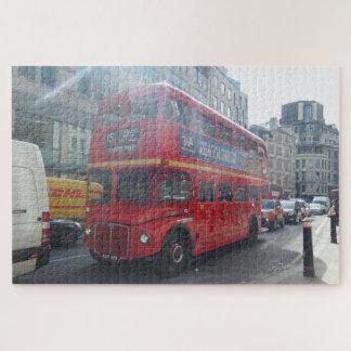 Rompecabezas rojo de Londres del autobús