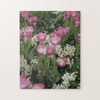 Rompecabezas rosado del tulipán