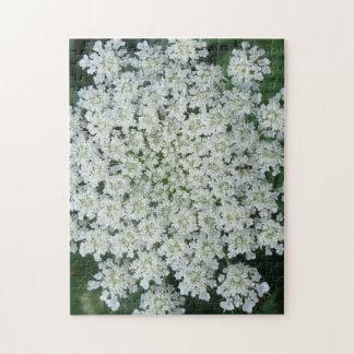 Rompecabezas tropical de la foto de la flor con la