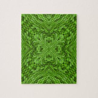 Rompecabezas verde que va con la caja de regalo