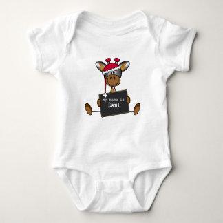 Rompertje met een illustratie van een lief girafje body para bebé