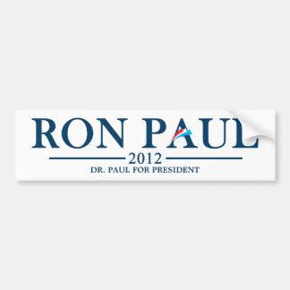Ron Paul 2012 - El Dr. Paul para el presidente Etiqueta De Parachoque