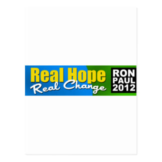 Ron Paul 2012: Esperanza real, cambio real Postal