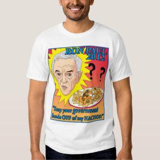 Ron Paul 2012 - ¡Evite mis Nachos! Camiseta