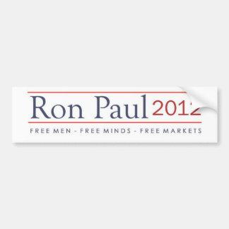 Ron Paul 2012 hombres libres libera mercados libre Pegatina Para Coche