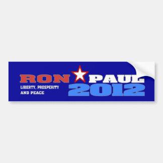 Ron Paul 2012 (libertad, prosperidad y paz) Pegatina Para Coche