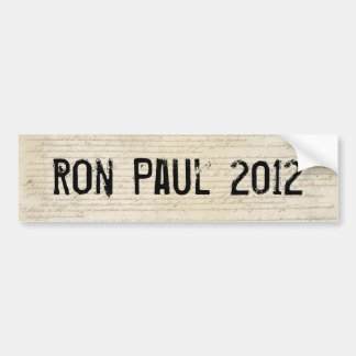 Ron Paul 2012 Etiqueta De Parachoque