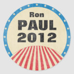 Ron Paul 2012 pegatinas redondos Etiquetas Redondas