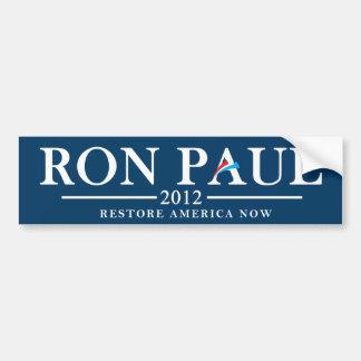 Ron Paul 2012 - Restablecimiento América ahora Pegatina Para Coche