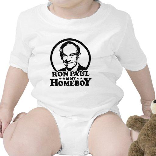 Ron Paul es mi Homeboy Trajes De Bebé