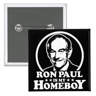 Ron Paul es mi Homeboy Chapa Cuadrada 5 Cm