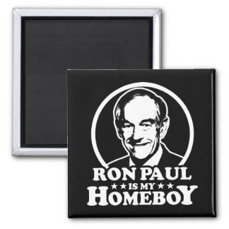 Ron Paul es mi Homeboy Imán Cuadrado