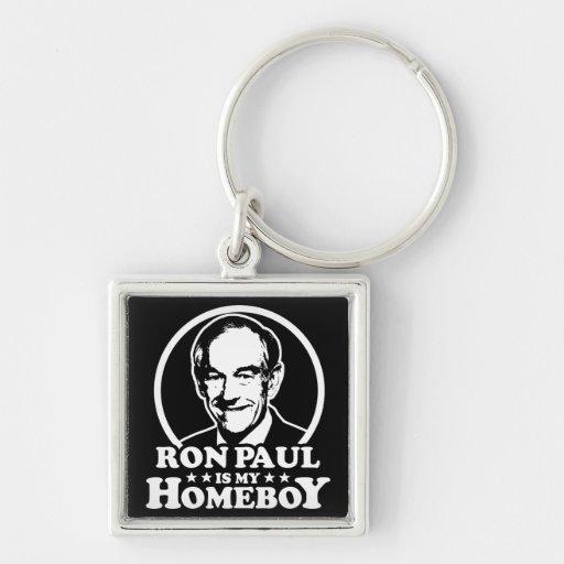 Ron Paul es mi Homeboy Llaveros Personalizados