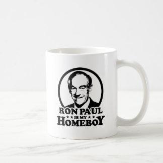 Ron Paul es mi Homeboy Taza Básica Blanca