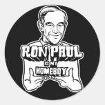 Ron Paul es mis pegatinas del Homeboy Pegatinas Redondas