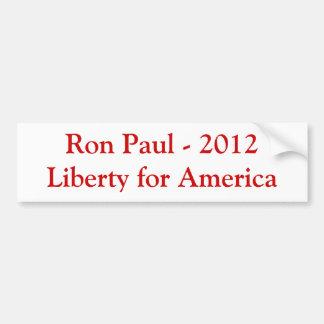 Ron Paul - libertad 2012 para América Pegatina Para Coche
