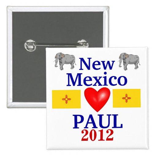 Ron Paul New México 2012 Pin