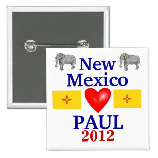 Ron Paul New México 2012 Pin